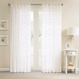 Madison Park Gemma Sheer Rod Pocket/Back Tab Window Curtain Panel