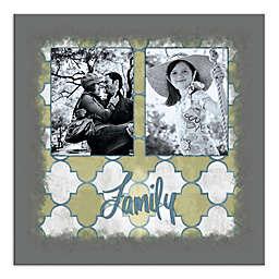 Grey Family Photo Canvas Wall Art