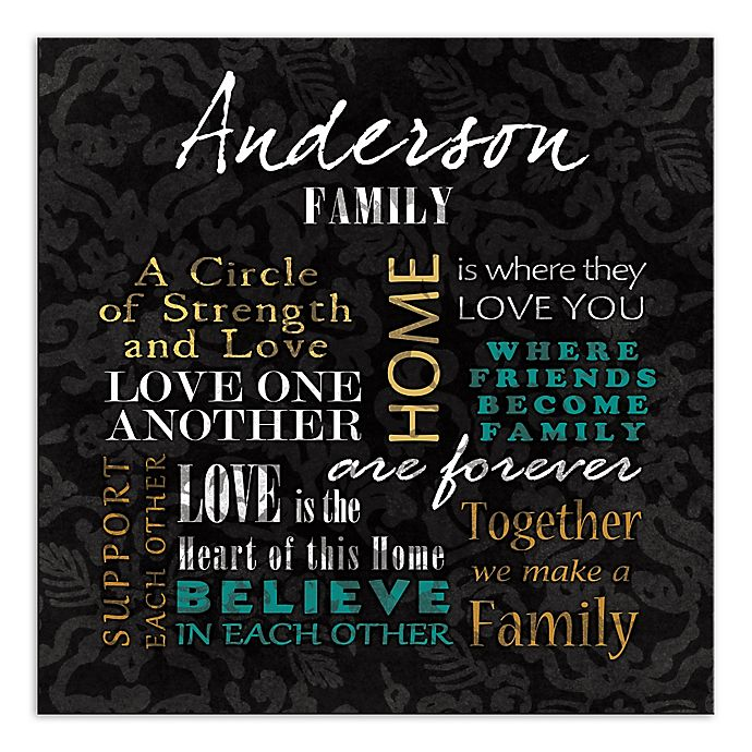 Alternate image 1 for Family Phrases Canvas Wall Art
