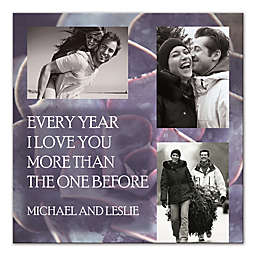 Every Year I Love You More Canvas Wall Art
