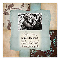 """""""You Are The Most Wonderful Blessing"""" 16-Inch x 16-Inch Canvas Wall Art"""