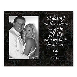 """It's Who We Have Beside Us"" Canvas Wall Art"