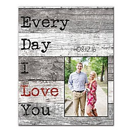 Every Day I Love You Canvas Wall Art