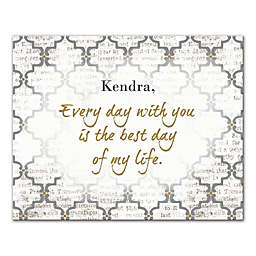 Every Day with You Is the Best Day Canvas Wall Art