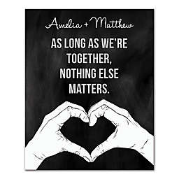 As Long As We're Together Canvas Wall Art