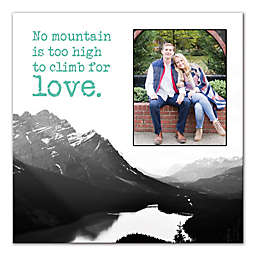 Designs Direct No Mountain Is Too High to Climb for Love Wall Art