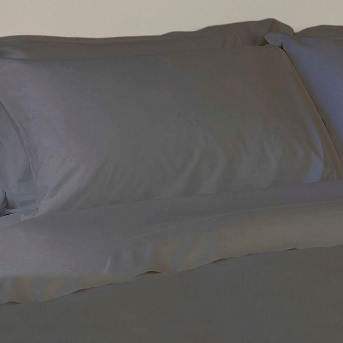 Alternate image 1 for Natural Bamboo 350-Thread-Count King Sheet Set in Pewter