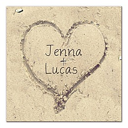 You and Me Heart in the Sand Wall Art