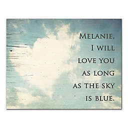 I Will Love You As Long As the Sky Is Blue Wall Art