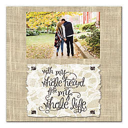 Whole Heart, Whole Life Canvas Wall Art