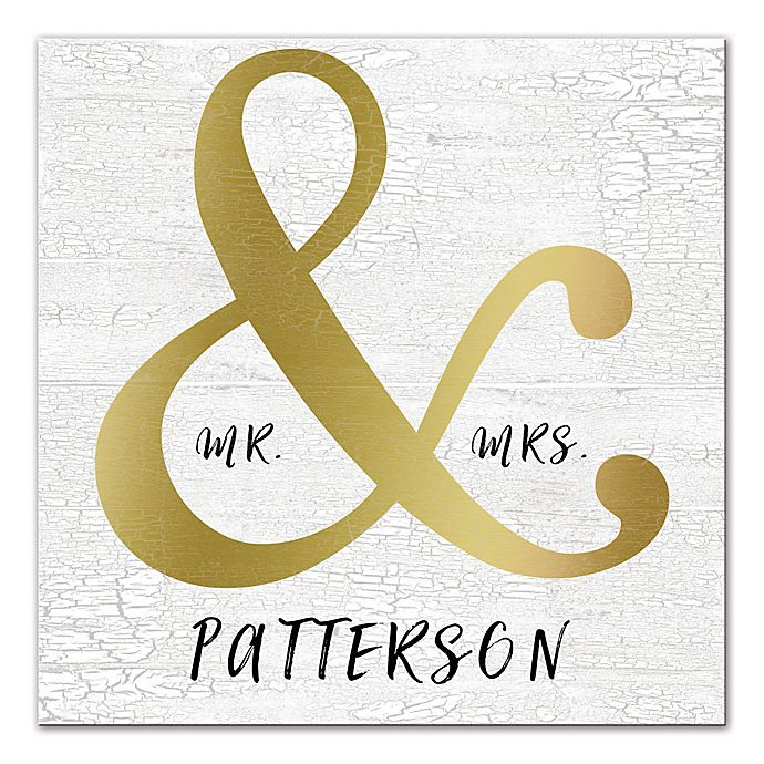 Alternate image 1 for Mr. & Mrs. 16-Inch x 16-Inch Personalized Canvas Wall Art