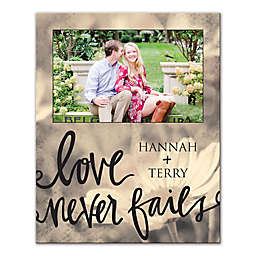 Love Never Fails Canvas Wall Art