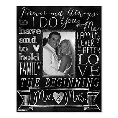 """""""I Do"""" Wedding Words Collage Canvas Wall Art"""