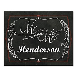 Mr. and Mrs. Chalkboard Canvas Wall Art