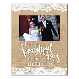 "Pied Piper Creative ""Beautiful Day to Get Married"" Canvas Wall Art"