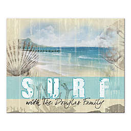 Pied Piper Creative Surf Family 20-Inch x 16-Inch Canvas Wall Art