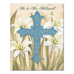 Lily Cross Canvas Wall Art