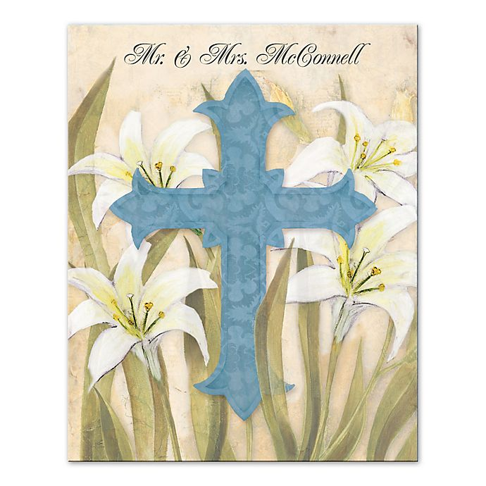 Alternate image 1 for Lily Cross Canvas Wall Art