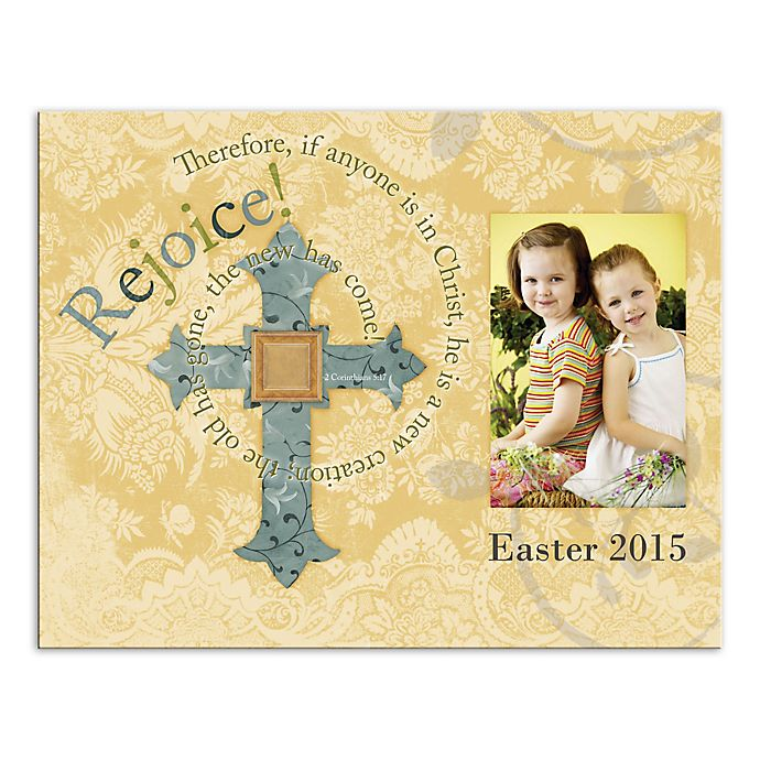 Alternate image 1 for Easter Cross and Photo Canvas Wall Art