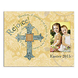 Easter Cross and Photo Canvas Wall Art