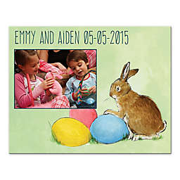 Easter Bunny Eggs Canvas Wall Art