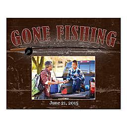 Gone Fishing Canvas Wall Art