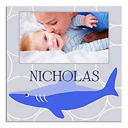 Blue Shark Circles Canvas Wall Art