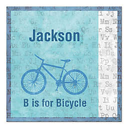 B Is for Bicycle 12-Inch x 12-Inch Personalized Wall Art