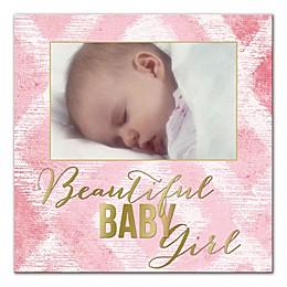 """Beautiful Baby Girl"" Ikat Wall Art"
