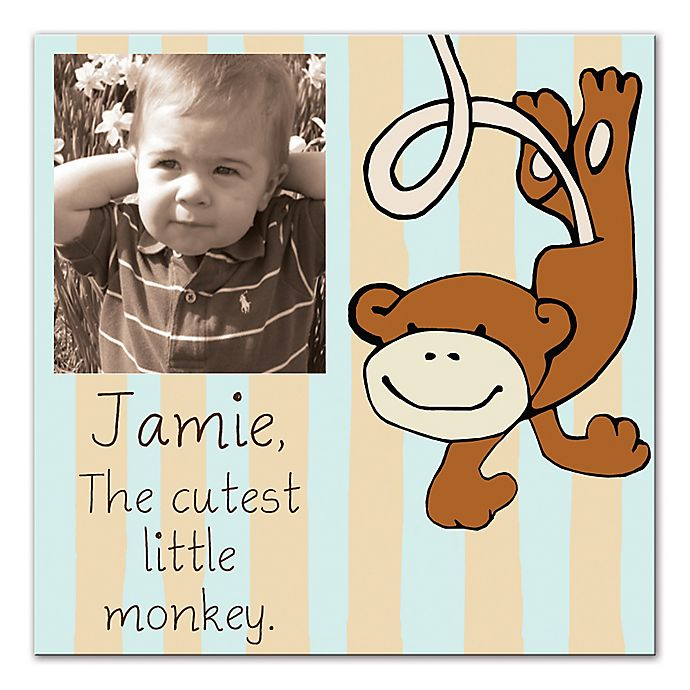 Alternate image 1 for The Cutest Little Monkey Canvas Wall Art