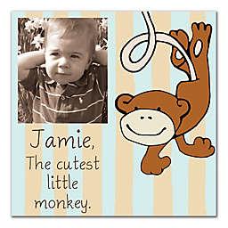 The Cutest Little Monkey Canvas Wall Art