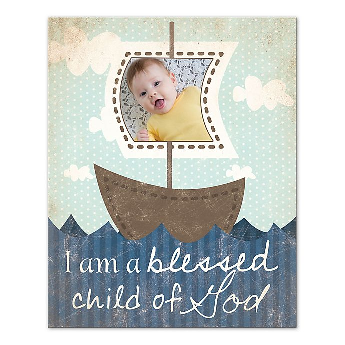 Alternate image 1 for Child of God and Boats Canvas Wall Art