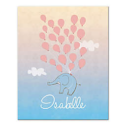 Floating Elephant and Balloon Wall Art