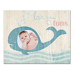 """""""Love You Tons"""" Whale 20-Inch x 16-Inch Wall Art"""