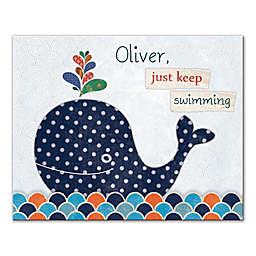 Just Keep Swimming Canvas Wall Art