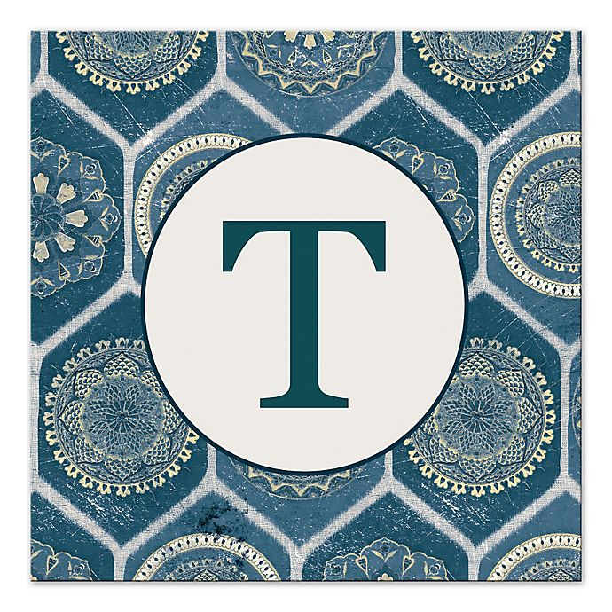 Alternate image 1 for Blue Exotic Emblems Letter Canvas Wall Art
