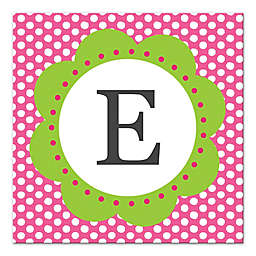 Pink Dots Letter Canvas Wall Art