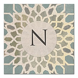 Exotic Tile Letter Canvas Wall Art