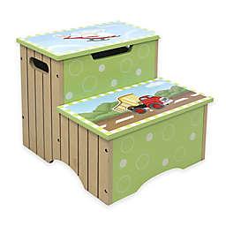 Teamson Fantasy Fields Transportation Kids' Stepstool in Green