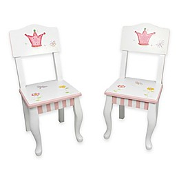 Teamson Fantasy Fields Princess & Frog Kids Chair (Set of 2)