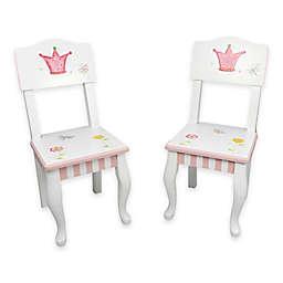 Teamson Fantasy Fields Princess & Frog Kids Chair (Set of 2)