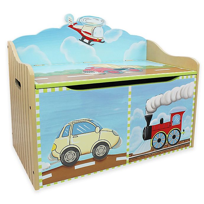 Alternate image 1 for Teamson Fantasy Fields Transportation Toy Storage Box