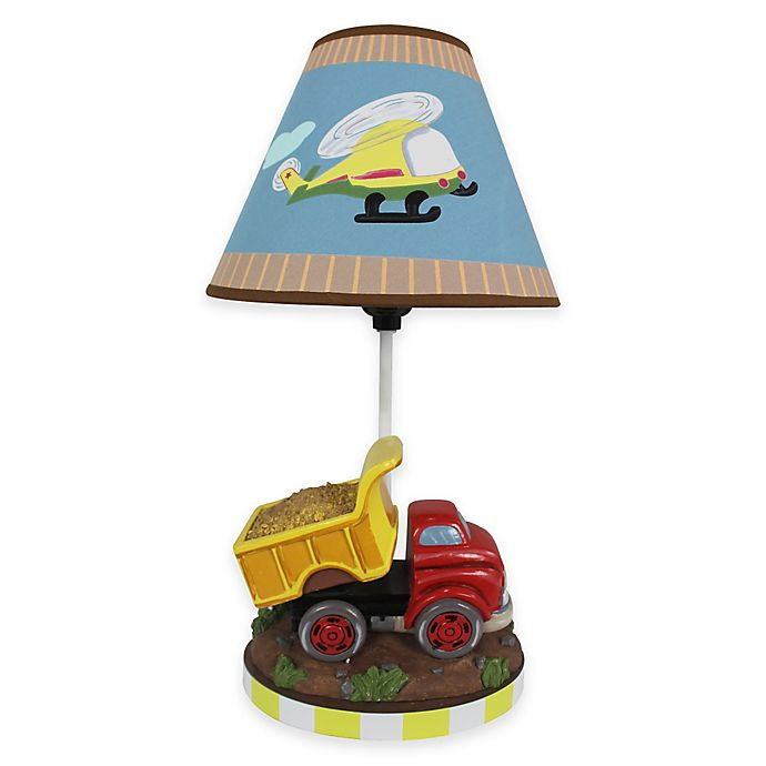 Alternate image 1 for Teamson Fantasy Fields Transportation Kids' Table Lamp with Canvas Shade