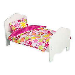 Olivia's Little World 18-Inch Doll Bed & Bedding Set in Summer Flowers