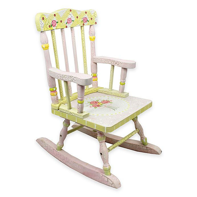 Cool Teamson Fantasy Fields Kids Rocking Chair In Crackled Rose Dailytribune Chair Design For Home Dailytribuneorg