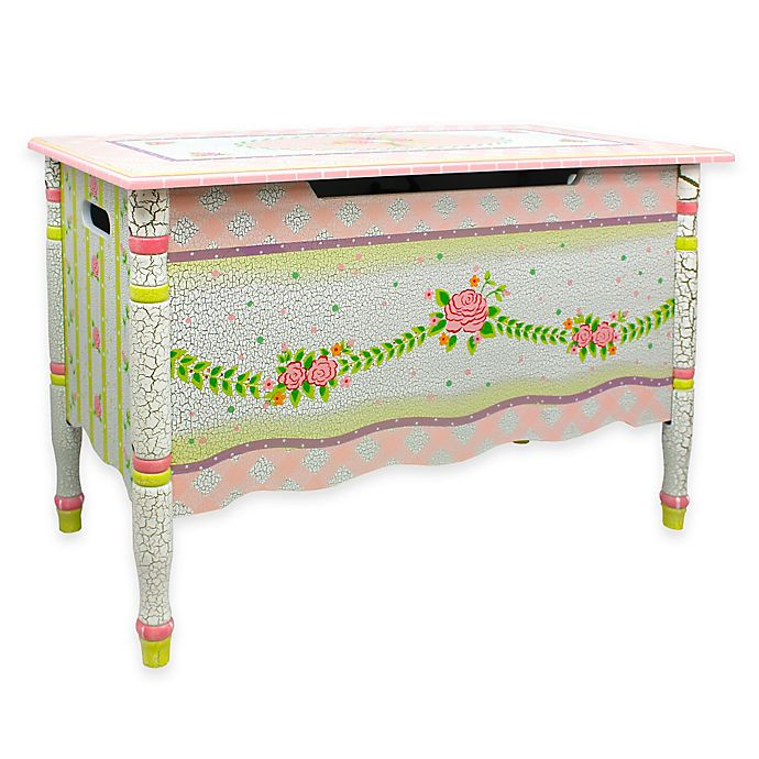 Alternate image 1 for Teamson Fantasy Fields Toy Storage Box in Crackled Rose