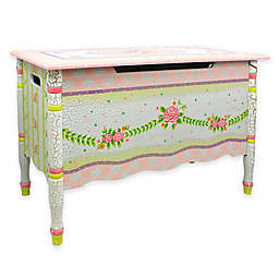 Teamson Fantasy Fields Toy Storage Box in Crackled Rose