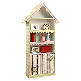 Teamson Fantasy Fields Kids Bookcase in Crackled Rose