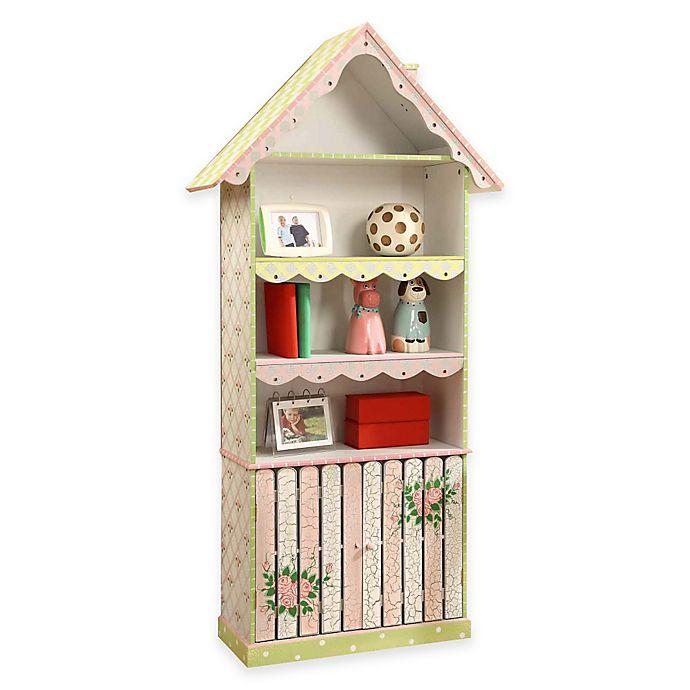 Alternate image 1 for Teamson Fantasy Fields Kids Bookcase in Crackled Rose