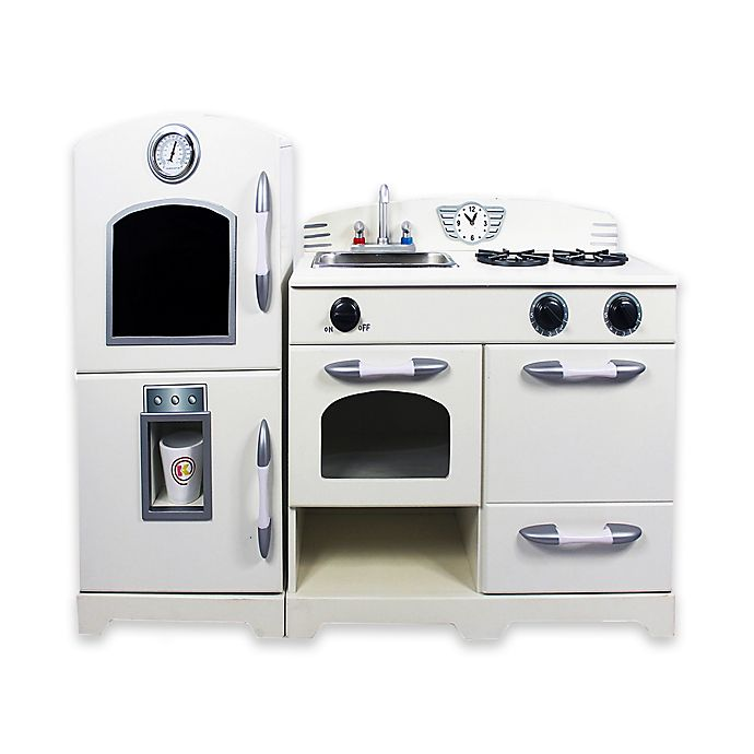 Alternate image 1 for Teamson 2-Piece Wooden Play Kitchen Set in White
